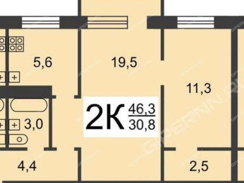 двухкомнатная квартира на улице Надежды Сусловой дом 3 к1